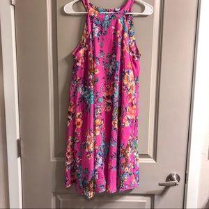 Betsy Johnson Pink Floral Dress